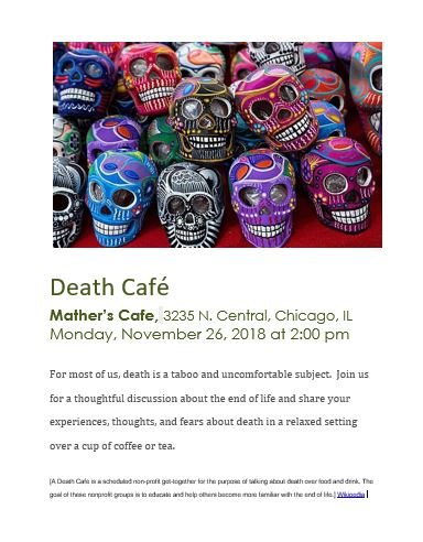 Death Cafe at Mather's