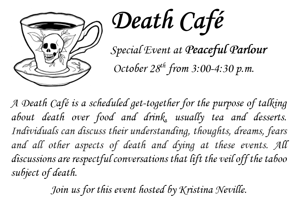 Death Cafe at Peaceful Parlour Geneva IL