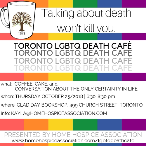 Toronto LGBTQ Death Cafe presented by Home Hospice Association