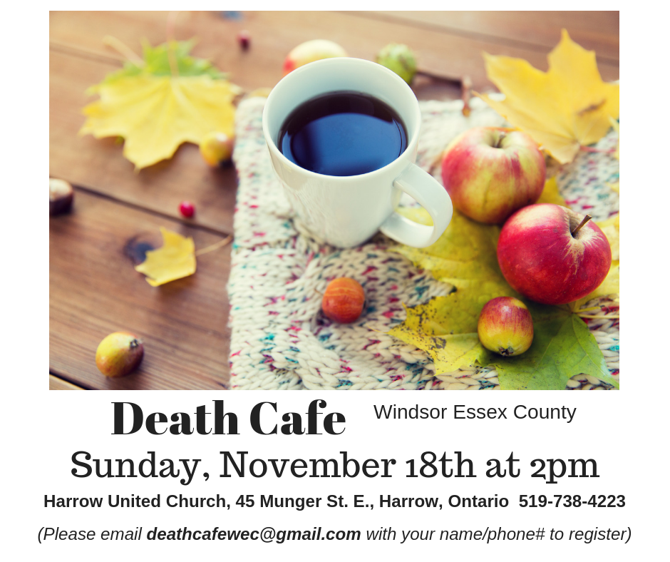Death Cafe Windsor Essex County