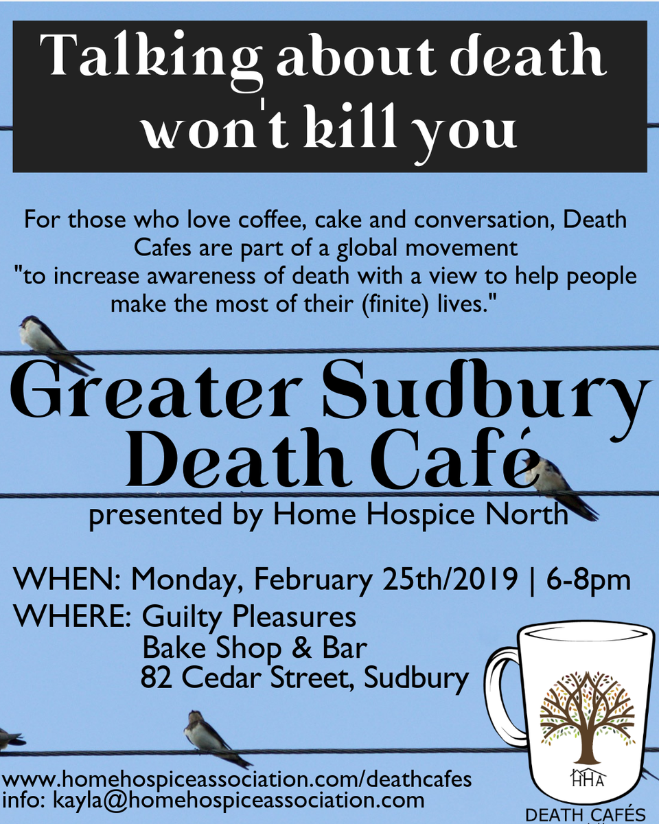 Greater Sudbury Death Cafe presented by Home Hospice North