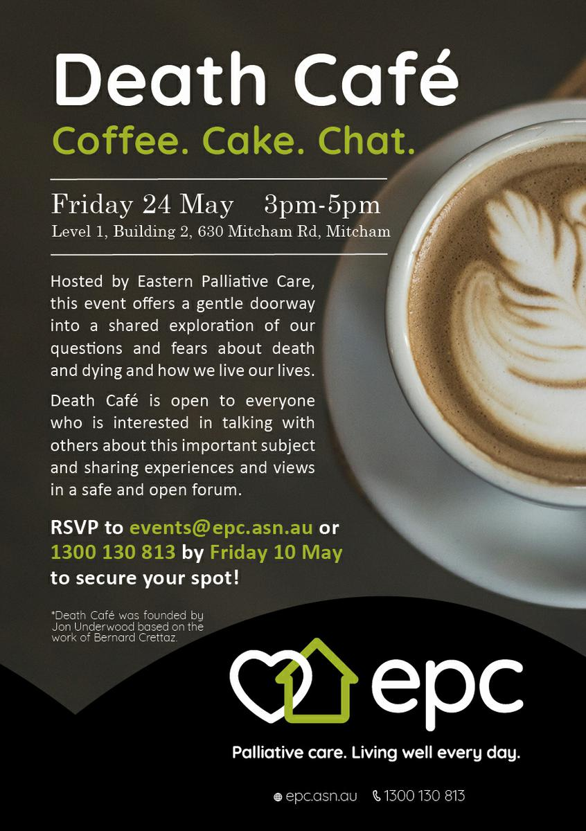 Death Cafe Mitcham  - Hosted by Eastern Palliative Care