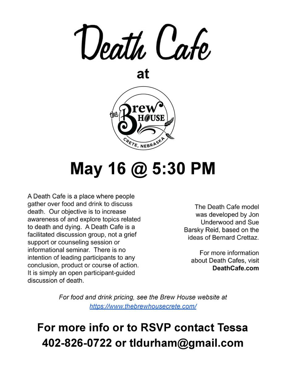 Death Cafe at the Brew House Crete NE