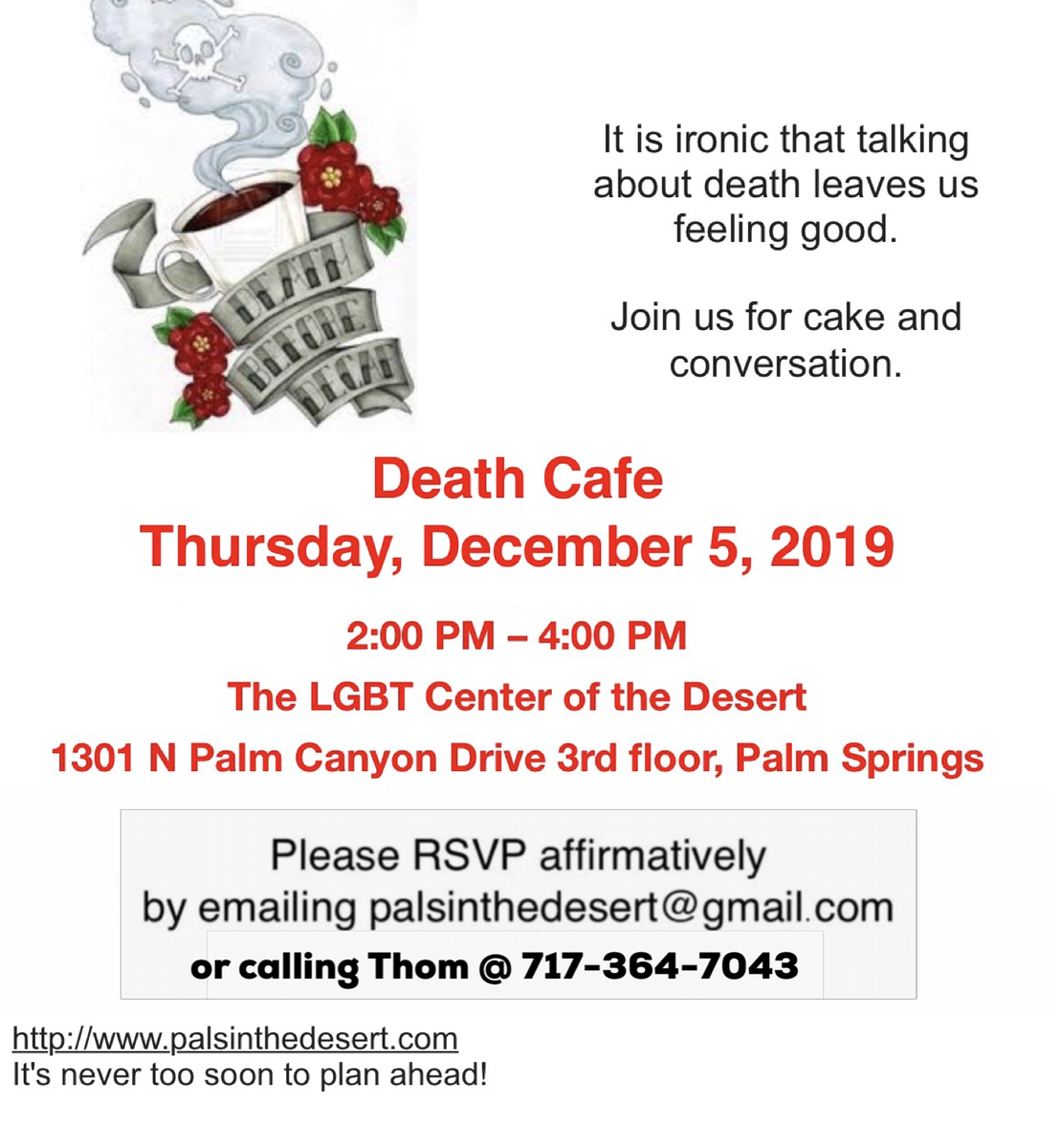 Death Cafe  Palm Springs