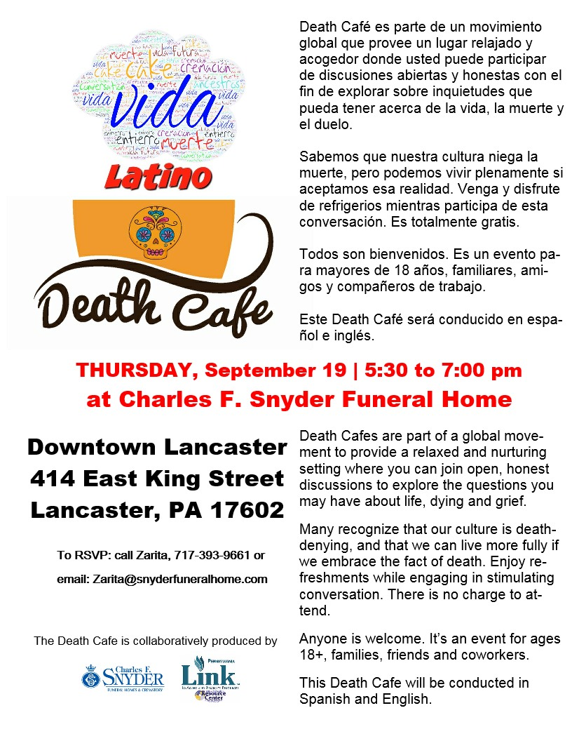 Lancaster County's First Latino Death Cafe