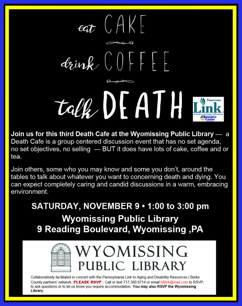 Wyomissing Public Library Death Cafe