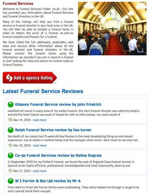 Funeral site picks - Funeral Service Finder