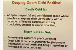 At a death cafe:   A life-affirming experience