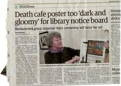 Death Cafe poster too 'dark and gloomy' for library notice board