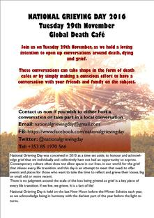 National Grieving Day - Death Cafe 29th November